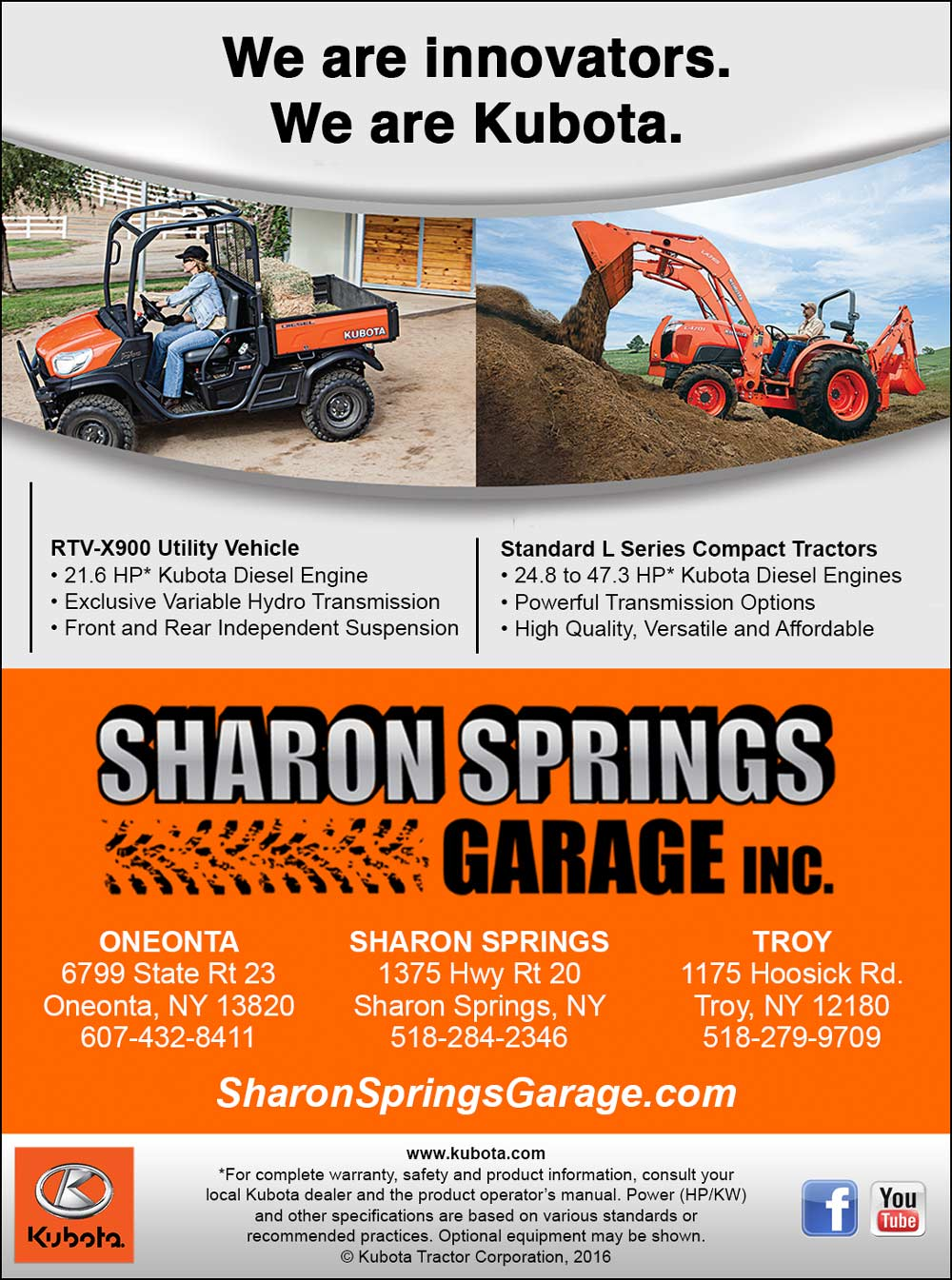 Beautiful Sharon Springs Garage, Inc.