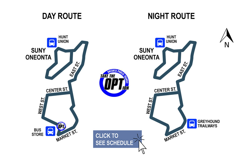 Oneonta, NY SUNY bus route